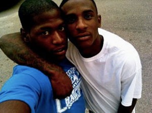 Shaquille Howard,16, left, with brother Chauncy Howard,17. Photo: submitted