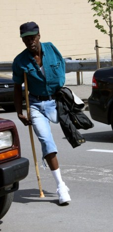 """This is the hardest part,"" Harris says, ""cleaning up after you're finished.""  He hobbles across the street on one crutch, avoiding cars to redeposit his chair, a milk crate. He returns to pick up every scrap of paper he dropped. Then he walks several blocks to catch a 3 p.m. bus that will take him home to West Mifflin, 35 minutes away.  ""I hope this weather lasts,"" he says before boarding the bus.  Minutes later, thunder rolled and lightning broke open the gray clouds, turning the sidewalk into a river."