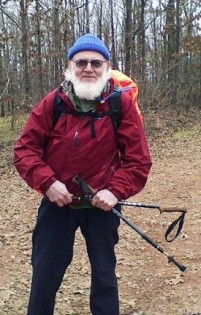 Mike Briggs on an extension of the Appalachian Trail in Northeast Alabama, Jan. 6. Photo by Bob Burger.