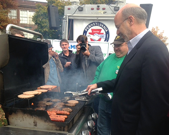 Tom Wolf Flips Burgers Jen Bush 102514 copy