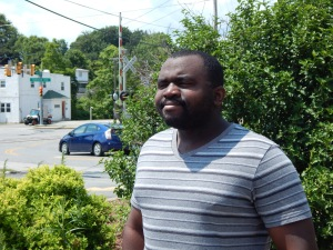 Tyrone Roberts Jr., Indiana University of Pennsylvania junior economics major and summer tour guide, July 7, 2016. Photo by Ethan Brogan.