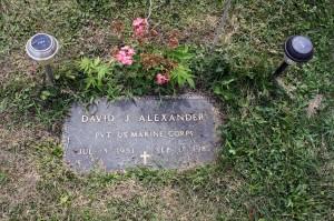 David J. Alexander's headstone.
