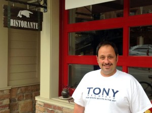 Tony DeLoreto, Democratic candidate for the 41st District state Senate seat, Philadelphia Street, Indiana, Pa., Oct. 11, 2016. Photo by David Loomis.