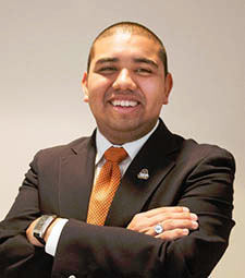 Vincent J. Lopez, IUP English major and president of IUP College Democrats. Photo from IUP website.