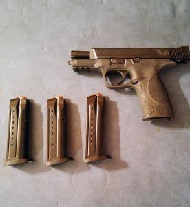 IUP student Luke Wisniewski's Smith & Wesson M&P 9. Photo by Emilee Larkin.