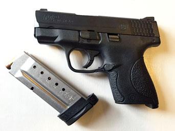 Cramer's 40-caliber, Smith & Wesson M&P Shield. Photo by Lynette Larssen.