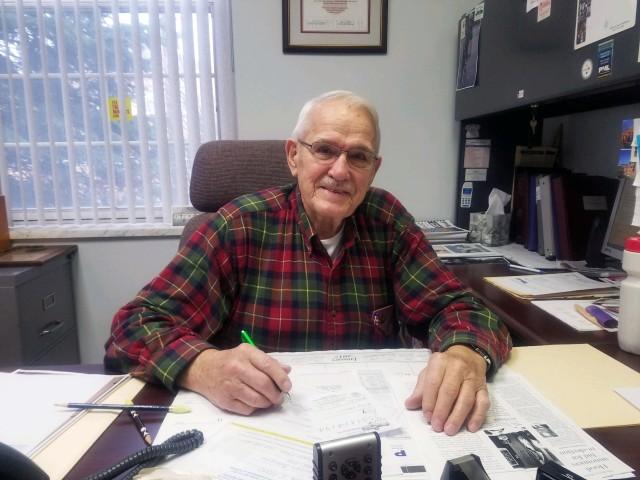 Indiana Mayor George E. Hood in his borough office, Jan. 26, 2016. Photo by Logan Hullinger.