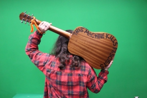 Hankey's Taylor guitar, rear view.