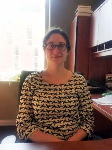 Rachel Sternfeld, Ph.D., political science professor at Indiana University of Pennsylvania, Jan. 25, 2016. Photo by Logan Hullinger.